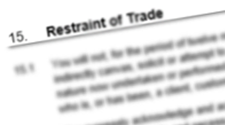 Restraints of Trade & Non-Competition Clauses – Independent Contractors